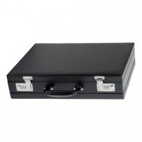Alassio Ponte Attache Case Multi-section Expandable Leather-look Black Ref 92300