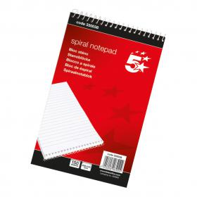5 Star Office Shorthand Pad Wirebound 60gsm Ruled 300pp 127x200mm Red Pack of 10