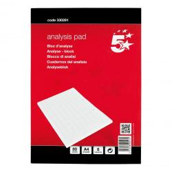 Cheap Stationery Supply of 5 Star Office Analysis Pad 8 Cash Column 80 Sheets A4 Office Statationery