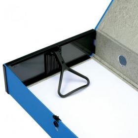 5 Star Office Box File 75mm Spine Lock Spring Foolscap Blue Pack of 5