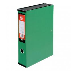 Cheap Stationery Supply of 5 Star Office Box File 75mm Spine Lock Spring Foolscap Green Pack of 5 Office Statationery