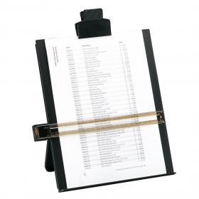 5 Star Office Desktop Copyholder with Line Guide Ruler A4 Black