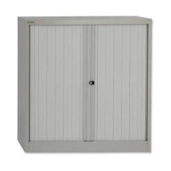 Cheap Stationery Supply of Bisley Tambour Cupboard Steel Side-opening (Grey) AST401W-av4 Office Statationery