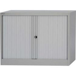 Cheap Stationery Supply of Bisley ST28 Tambour Cupboard Steel Side-opening (Grey) AST281W-av4 Office Statationery