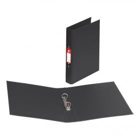 5 Star Office Ring Binder 2 O-Ring Size 25mm Polypropylene A4 Black Pack of 10
