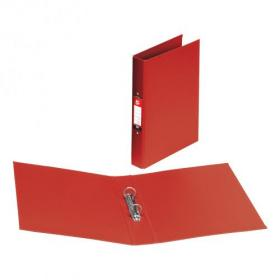 5 Star Office Ring Binder 2 O-Ring Size 25mm Polypropylene A4 Red Pack of 10
