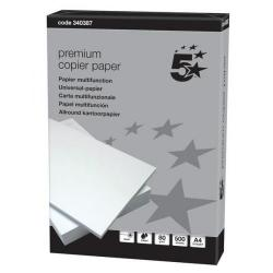 Cheap Stationery Supply of 5 Star Elite Premium Copier Paper Smooth Ream-Wrapped 80gsm A4 White 500 Sheets Office Statationery