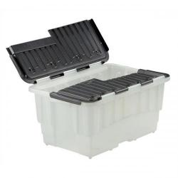 Cheap Stationery Supply of Strata Storage Box Duracrate Crate Plastic 40 Litre W570xH390xH290mm Black HW390BLK Pack of 5 Office Statationery