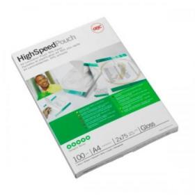 GBC Hi-Speed Laminating Pouches 150 Micron A4 Ref 3747347 Pack of 100