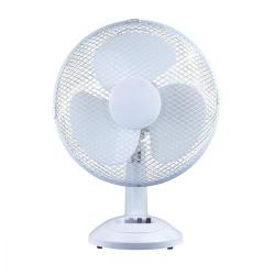 Cheap Stationery Supply of 5 Star Facilities Desk Fan 12 Inch 90deg Oscillating with Tilt & Lock 3-Speed H480mm Dia.305mm White Office Statationery