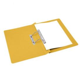 5 Star Office Transfer Spring File Mediumweight 285gsm Capacity 38mm Foolscap Yellow Pack of 50