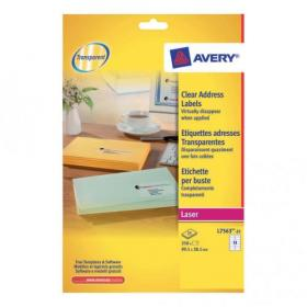 Avery Addressing Labels Laser 14 per Sheet 99.1x38.1mm Clear Ref L7563-25 350 Labels