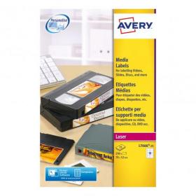 Avery Diskette Labels Laser 3.5 inch Disk 10 per Sheet 70x52mm White Ref L7666-25 250 Labels