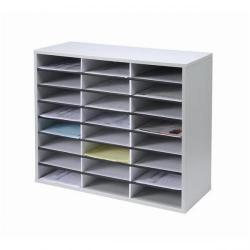 Cheap Stationery Supply of Fellowes Literature Sorter Melamine-laminated Shell 24 Compartments W737xD302xH595mm 25041 Office Statationery