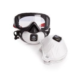 Cheap Stationery Supply of JSP FilterSpec Pro FMP2 Safety Goggle Mask Anti-scatch Black/ClearRef AGE120-201-100 Office Statationery