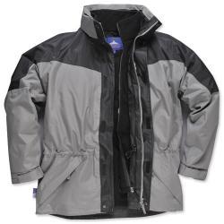 Cheap Stationery Supply of Portwest 3-in-1 Polyester Jacket Zip Pockets Detachable Fleece Grey (Medium) S570CITYGRYMED Office Statationery