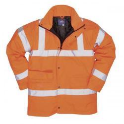 Cheap Stationery Supply of Portwest High Visibility Railtrack Jacket Polyester Resistant Finish Orange (Medium) RT60MED Office Statationery