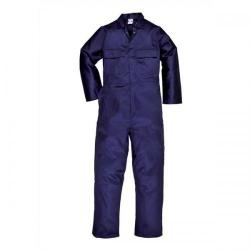 Cheap Stationery Supply of Portwest Stud Front Coverall Polyester and Cotton Multiple Pockets Navy (Medium) S999MED Office Statationery