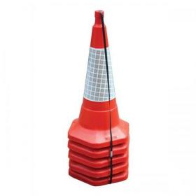 Safety Cone Standard One Piece H750mm with Sealbrite Sleeve Pack of 5