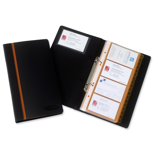 rexel business card book professional ring binder with a