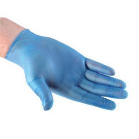 Vinyl Gloves Powdered Large Blue 50 Pairs