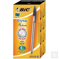 Cheap Stationery Supply of Bic Cristal Ball Pen Clear Barrel 1.0mm Tip 0.32mm Line Black 8373632 Pack of 50 Office Statationery