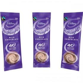 Cadbury Chocolate Highlights Fairtrade Hot Chocolate Powder Sachets Low Calorie Ref 0403173 Pack of 30
