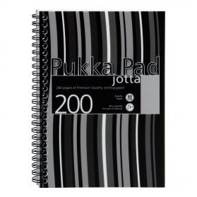 Pukka Pad Jotta Notebook Poly Wirebound 80gsm Ruled Perforated 200pp A5 Black Ref JP021-5 Pack of 3
