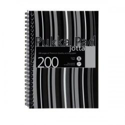 Cheap Stationery Supply of Pukka Pad Jotta Notebook Poly Wirebound 80gsm Ruled Perforated 200pp A5 Black JP021-5 Pack of 3 Office Statationery