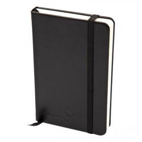 Silvine Executive Soft Feel Notebook 80gsm Ruled with Marker Ribbon 160pp A4 Black Ref 198BK