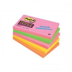 Post-it Super Sticky Notes 76x127mm Capetown Rainbow Ref 655SN Pack of 5