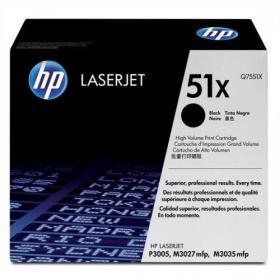 Hewlett Packard HP 51X Laser Toner Cartridge High Yield Page Life 13000pp Black Ref Q7551X