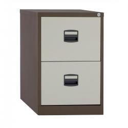 Cheap Stationery Supply of Trexus 2 Drawer Filing Cabinet 470x622x711mm Coffee/Cream 395009 Office Statationery