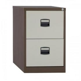 Trexus 2 Drawer Filing Cabinet 470x622x711mm Coffee/Cream Ref 395009