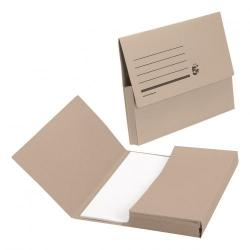 Cheap Stationery Supply of 5 Star Office Document Wallet Half Flap 285gsm Recycled Capacity 32mm Foolscap Buff Pack of 50 Office Statationery