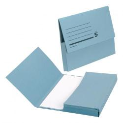 Cheap Stationery Supply of 5 Star Office Document Wallet Half Flap 285gsm Recycled Capacity 32mm Foolscap Blue Pack of 50 Office Statationery