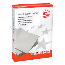 5 Star Value Copier Paper Multifunctional Ream-Wrapped 80gsm A4 White 500 Sheets