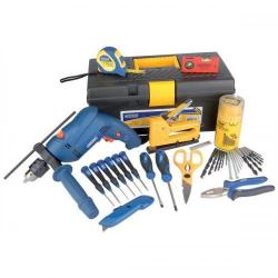 Cheap Stationery Supply of Draper Maintenance Tool Kit Complete with 500W Hammer Drill 2573 Office Statationery
