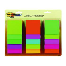 Post-It Super Sticky 76X76mm Rio And Miami Collection (Pack of 15) 654-15AAMULTI2