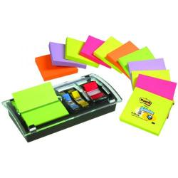 Cheap Stationery Supply of Post-it Designer Combi Note Dispenser with Z-Notes and Index Tabs Black DS100-VP Office Statationery