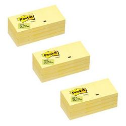 Cheap Stationery Supply of Post-it Notes Recycled 76 x 127mm Canary Yellow (Pack of 12) 655-1Y Office Statationery