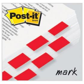 Post-it Index Tabs 25mm Red with Dispenser (Pack of 600) 680-1