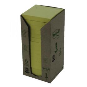 Post-it Notes Recycled Tower 76x76mm Canary Yellow (Pack of 16) 654-1T