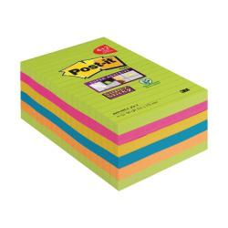 Cheap Stationery Supply of Post-it Super Sticky 101 x 152mm Ultra (Pack of 6) 4690-SSUC-P4+2 Office Statationery