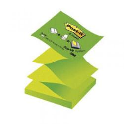 Cheap Stationery Supply of Post-it Sticky Notes Z-Notes Neon Green 12 x 100 Sheets R330NAG Office Statationery