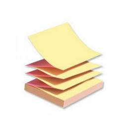 Post-it Z-Notes 76 x 76mm Neon Pink and Yellow (Pack of 6) R330N