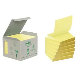 Cheap Stationery Supply of Post-it Recycled Z-Notes 76 x 76mm Canary Yellow (Pack of 6) R330-1B Office Statationery