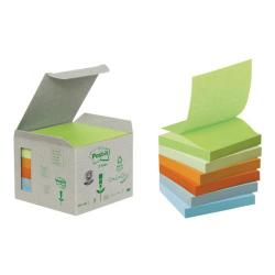 Cheap Stationery Supply of Post-it Recycled Z-Notes 76 x 76mm Pastel Rainbow (Pack of 6) R330-1GB Office Statationery