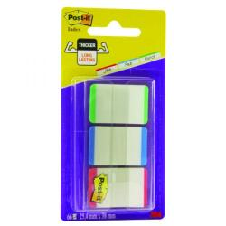 Cheap Stationery Supply of Post-it Strong Index Coloured Tips Red/Green/Blue (Pack of 66) 686L-GBR Office Statationery