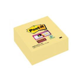Post-it Note Cube Super Sticky 76 x 76mm Canary Yellow 2028-SSCY-EU